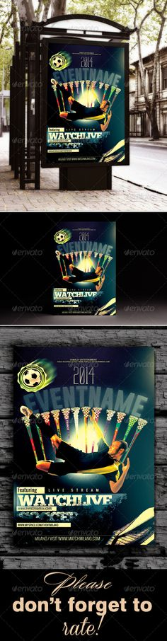 Soccer Flyer Template  Flyer Template Edit Text And Event Flyers