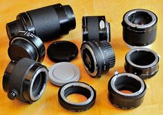 through the Nikon F-Mount - Nikon teleconverters and automatic tubes