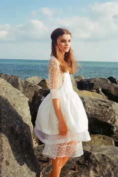 mathilde dress  Love the white crisp chiffon with lace