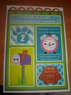 Blues Clues Birthday Party Ideas | Photo 1 of 36 | Catch My Party