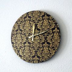 Hey, I found this really awesome Etsy listing at https://www.etsy.com/listing/120885572/wall-clock-home-and-living-damask-decor