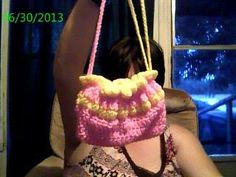 crochet doll bassinet/pocket book