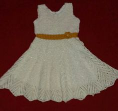 Vestido Infantil  Croche WhatsApp 061 9 9918 0837