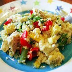 Salada de frango com cuscuz marroquino