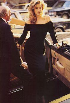 """Then New Nightlife"", VOGUE US, September 1987 Photographer: Arthur Elgort Model: Tatjana Patitz"