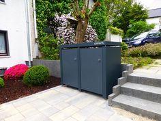 Pulverbeschichtete Mülltonnenbox - Wetterbeständig, große Farbenvielfalt, Stoß- & Kratzfest