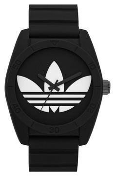 »adidas Originals 'Santiago' Silicone Strap Watch, 42mm« #watches #adidas