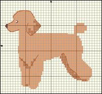 Pudel (aprikos) Crochet Lace Edging, Granny Square Crochet Pattern, Crochet Pillow Patterns Free, Dog Crafts, Dog Pattern, Square Patterns, Plastic Canvas Patterns, Cross Stitch Patterns, Diagram