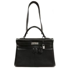 bac64cbe94d Hermes Black Kelly Lakis Bag