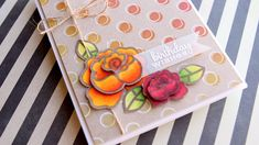 kw - Easy Layered Flowers with Copic Markers - Color Wednesday #63