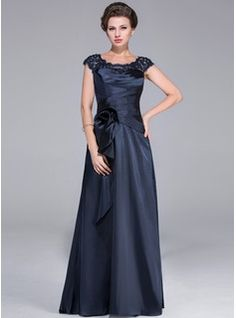 f23409bf5fc A-Line Princess Scoop Neck Sweep Train Tulle Charmeuse Mother of the Bride  Dress