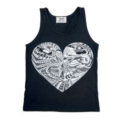 Love Birds Black Tank by BabesnGents on Etsy // www.etsy.com/ca/listing/243999074/love-birds-black-tank