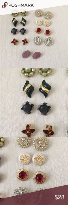 9 Pairs of Vintage Earrings 9 pairs of pretty vintage earrings in great condition. All for one price! Jewelry Earrings