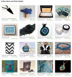 A Blue, Black and White Delight!  by Patricia and Rebecca from northandsouthshabby. www.etsy.com/treasury/ODU4OTc0NnwyNzI2NzA5NTU2/a-blue-black-and-white-delight