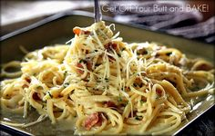 Creamy Bacon Carbonara-dinner 10/10/12.  Another winner. Approved by the whole family!