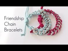 ▶ DIY Chain Friendship Wrap Stacked Bracelets EASY How To MAKE - YouTube