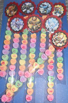30 Candy Heart Valentine gifts SKYLANDERS by Handmadecardscrafts