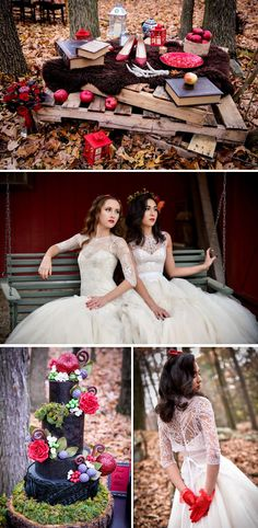 Magic, mystery and magnificence are three things that inspired this Snow White themed Ever After Bridal styled shoot on the Wedding Paper Divas blog. #ontheblog