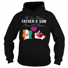 THE LOVE BETWEEN FATHER AND SON KNOWS NO DISTANCE - IVORY COAST CANADA T-SHIRTS, HOODIES, SWEATSHIRT (39.99$ ==► Shopping Now)