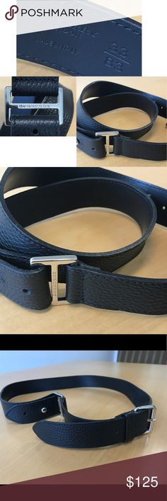 """Burberry Belt Smart 100% leather stylish Italian belt featuring a silver branded buckle and side fold.  37-1-2"""" long, 1-1/4"""" wide (3 cm). Pristine. Burberry Accessories Belts"""