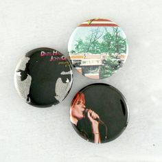 Hall and Oates Pins Indie Rock Band Badges One of a kind Buttons  by JeepsterVintage on Etsy