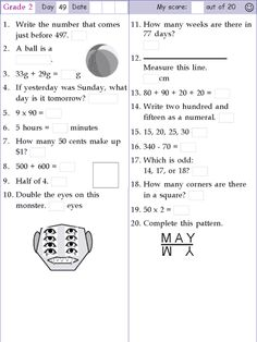 Search Results for Grade 1 day 1 2nd Grade Reading Worksheets, Mental Maths Worksheets, Second Grade Math, Grade 2, Math Olympiad, Olympiad Exam, Math Homework Help, Math Pages, Maths Solutions