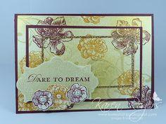 kareN stampZ: Golden triple time card using SU! Everything Eleanor