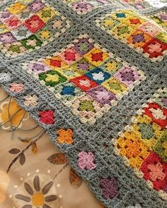 Yarn Crochet Projects Suzanne Border detail - needs blocked, but finished at last 🙌 (Border pattern from Around the Corner by Edie Eckman) Crochet Afgans, Crochet Quilt, Crochet Blocks, Baby Blanket Crochet, Crochet Motif, Crochet Stitches, Crochet Blankets, Mode Crochet, Crochet Home
