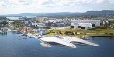 Haptic unveils domed aquarium for former airport site in Oslo – Architecture is art Architecture Today, Water Architecture, Cultural Architecture, Architecture Details, Urban Architecture, Tromso, Fiordo De Oslo, Bergen, Oslo Airport
