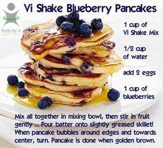 ViSalus Vi-Shape Shake Mix Recipe – Blueberry Pancakes