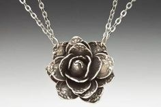 Silver Spoon Necklace - Rose - Roses And Teacups