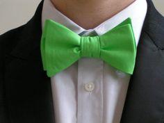 BOW TIEMEN Green bow ties bowties for men bow ties by ClipABowTie, $19.00