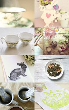 """""""Spring Tea"""" by Thu Thuy Vu from MadameVu on Etsy"""