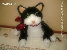 CAT DOLL Primitive Folk Art PATTERN 8 inch Kitty by raggedydays