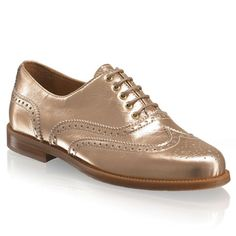 Russell & Bromley Gold Jeeves Brogues £165
