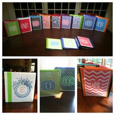 Mara Malcolm's Celebrated Houselife: Preppy Binders for the Girls! We decorate everything around here