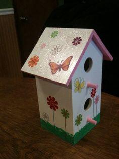 Hand painted birdhouse by PaintedLadyBirdhouse on Etsy