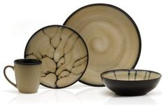 images of modern dinnerware | ... Basics by Mikasa Anissa Dinnerware - Set of 16 contemporary-dinnerware