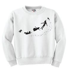 Peter Pan Silhouette sweatshirt by PeterPanAndWendys on Etsy, $22.00