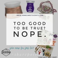 It's back! Start your own $Scentsy business in September for just $49!! You get a warmer and a wax bar ($35 value) PLUS all your business supplies PLUS a tester of every scent there is!  So yeah basically you spent $14 to join Scentsy. Y'all...the #discount alone is worth that! BOOM!