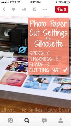 Photo paper cut settings