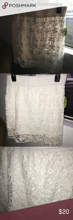 ⬇️SALE! ⬇️  White lace skirt White lace skirt; 100% cotton Skirts