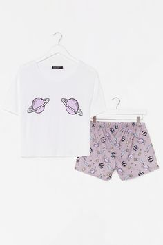 What Planet Are You On Tee and Shorts Pj Set Cute Pajama Sets, Cute Pjs, Cute Pajamas, Pj Sets, Cute Outfits For Kids, Cute Casual Outfits, Toddler Outfits, Swag Outfits, Casual Dresses