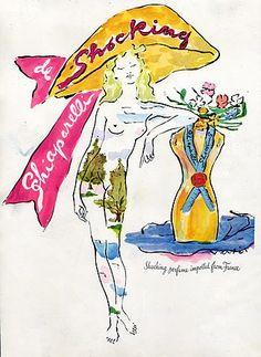 Schiaparelli Shocking Perfume Ad, Marcel Vertes