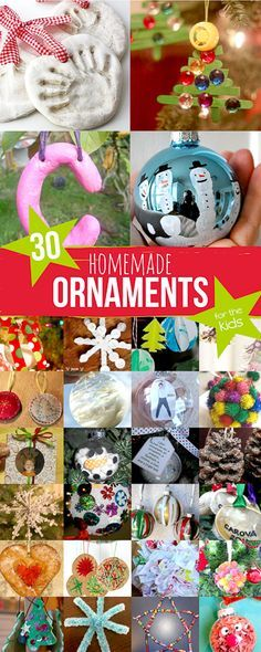 Tips For Just A Second Wedding Ceremony Anniversary Reward Thirty Homemade Ornaments To Make With Your Kids For Keepsakes, Or Just For Fun Via Handsonaswegrow Preschool Christmas, Noel Christmas, Christmas Crafts For Kids, Christmas Activities, Holiday Crafts, Christmas Gifts, Christmas Ideas, Christmas Blessings, Christmas Inspiration