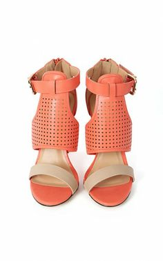 ae82ebcf8 Polo-01 Perforated Ankle Strap Heels SALMON    33.   MakeMeChic website  Ankle Strap