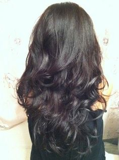 Dark Hair with a hint of purple..
