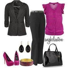 Fuschia, created by angkclaxton on Polyvore