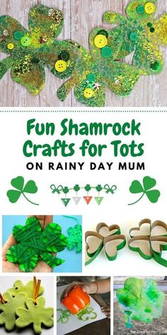 Simple and easy St Patrick's Day Crafts for toddlers and preschoolers all themed on Shamrock's. These fun crafts are great to make together.