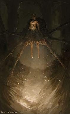 weirdletter:       Spider King, by Tristan Berndt (TristanBerndtArt), via DeviantArt.